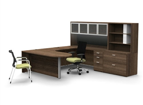 cherryman amber executive office desk configuration