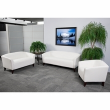 Flash Furniture Imperial White Leather Reception Sofa