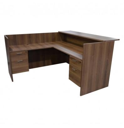 cherryman amber series reception desk am-401n