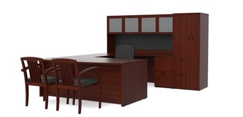 Cherryman Amber Series Mahogany Executive Office Desk AM 389N MAHO