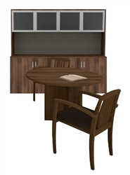cherryman amber small conference table and cabinet set am-378n
