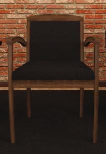 Cherryman Amber Series Wood Guest Chair with Walnut Finish