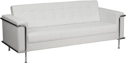 Flash Furniture Lesley 3 Piece White Reception Seating Set