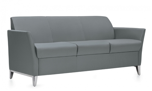 Global Total Office 5483 Camino 3 Seat Sofa with Polished Aluminum Base