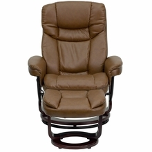 Flash Furniture Light Brown Leather Recliner