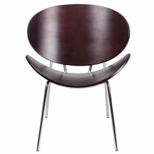 Flash Furniture Mahogany Bentwood Leisure Reception Chair
