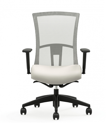 Global Total Office 6321-8 Vion High Back Mesh Chair with Fabric Seat