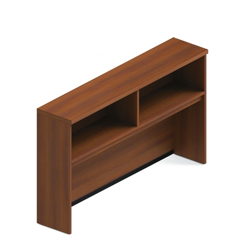 Global Total Office A72HOCB Adaptabilities Open Storage Hutch with Avant Honey Finish