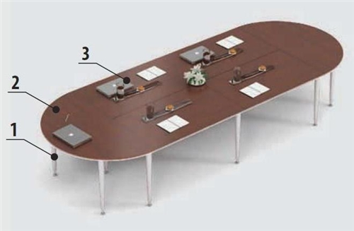 Global Total Office Bungee SL Series Modular Conference Table