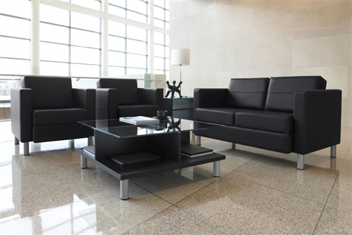 Global Total Office Citi Series Glass Top Coffee Table 7889