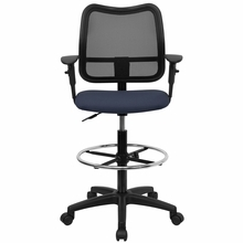 Flash Furniture Mesh Drafting Chair with Arms
