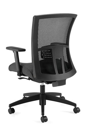 vion mid back chair - rear view