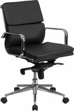 Flash Furniture Mid Back Black Leather Executive Swivel Chair