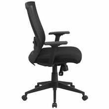 Flash Furniture Mid Back Black Mesh Chair with Back Angle Adjustment