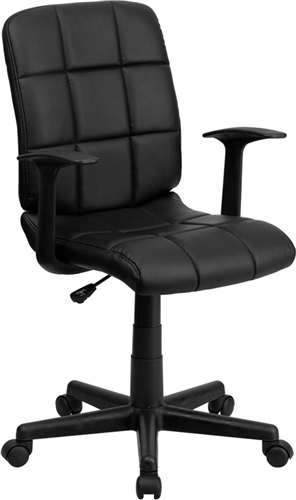 Flash Furniture Mid Back Black Vinyl Office Chair with Arms