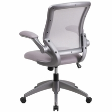 Flash Furniture Mid Back Gray Mesh Task Chair with Flip Up Arms