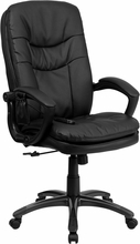 Flash Furniture Mid Back Leather Massaging Executive Chair