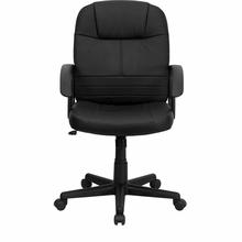 Flash Furniture Mid Back Leather Swivel Chair BT-8075-BK-GG