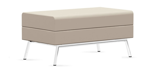 Global Wind Linear Leather Ottoman 3361BLM
