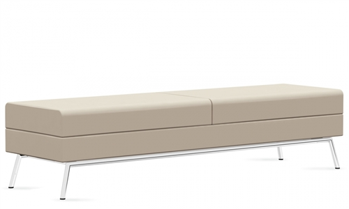 "Global Wind Linear Series 72"" Leather Reception Bench 3363BLM"