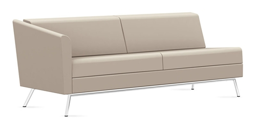 Global Wind Linear Series Right Arm Leather Sofa 3363RLM