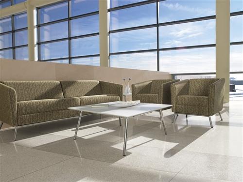 Global Wind Series 3 Piece Fabric Lounge Furniture Set