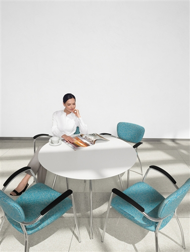 "Global Wind Series 42"" Round Meeting Table 3864 (2 Color Options Available!)"