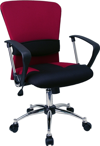 Flash Furniture Mid-Back Burgundy Mesh Office Chair