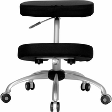 Flash Furniture Mobile Ergonomic Kneeling Chair with Silver Frame
