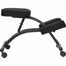 Flash Furniture Mobile Kneeling Chair in Black Fabric WL-1420-GG