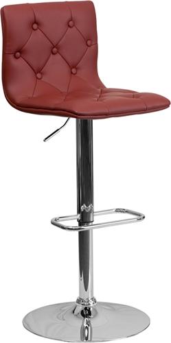 Flash Furniture Modern Burgundy Vinyl Cafe Bar Stool