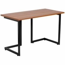 Flash Furniture Modern Cherry Computer Desk with Black Frame