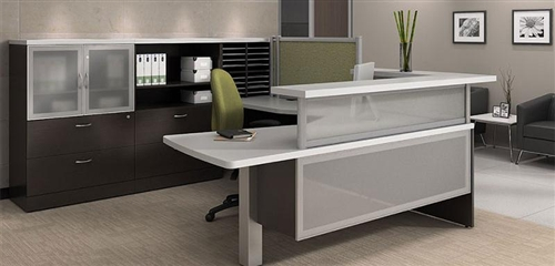 Global Zira Collection U Shaped Modern Reception Desk