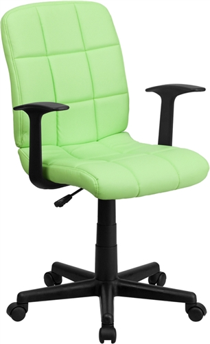 Flash Furniture Modern Green Vinyl Desk Chair with Arms