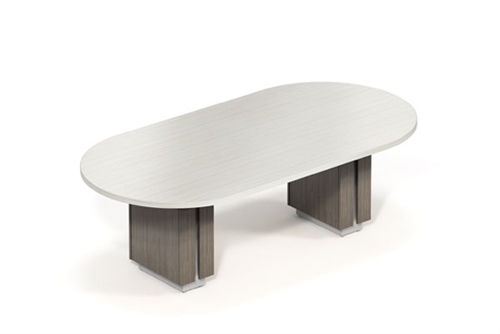 Global Zira Custom 8' Oval Conference Table with Two Tone Finish (Available With Power!)