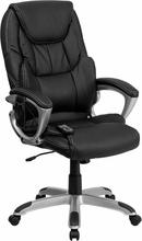 Flash Furniture Modern Leather Massaging Executive Chair