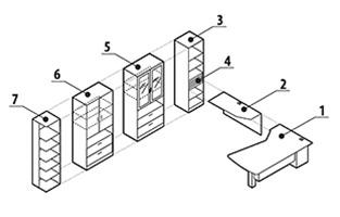 Global Zira Open Concept U-Desk with Storage