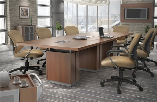 Global Zira Series 10' Rectangular Conference Table Z48120REE (Available with Power!)