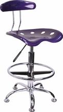 Flash Furniture Modern Violet Drafting Chair LF-215-VIOLET-GG