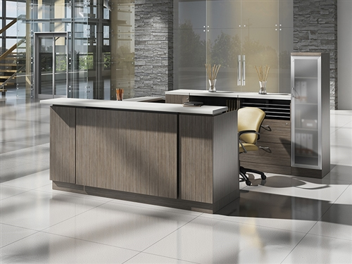 Global Zira Series Contemporary U Shaped Reception Desk
