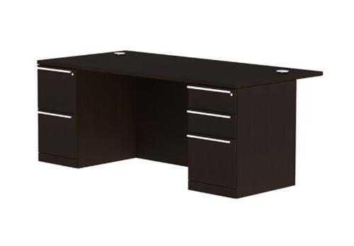 Cherryman Verde Series VL-605N Modern Executive Desk with Pedestals