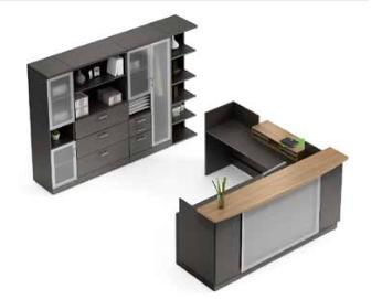 Global Zira Series Luxury Reception Desk Configuration
