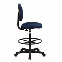 Flash Furniture Navy Blue Drafting Chair