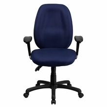 Flash Furniture Navy Blue Fabric Office Chair with Arms