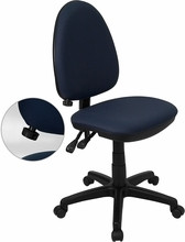 Flash Furniture Navy Blue Office Chair with Lumbar Support