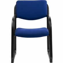 Flash Furniture Navy Fabric Executive Side Chair with Sled Base
