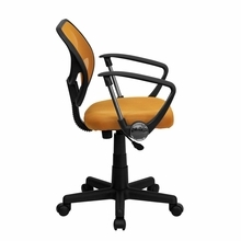 Flash Furniture Orange Mesh Chair with Arms