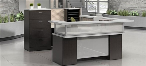 Global Zira Series U Shaped Reception Desk Configuration