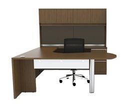 Cherryman VL-729 Verde Series U Shaped Desk with Hutch