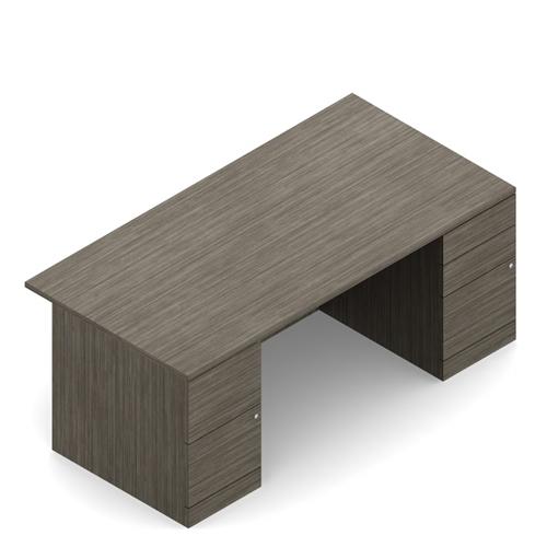 "Global Zira Z3072F23 72"" Straight Front Double Pedestal Office Desk"